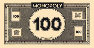 monopoly money 100